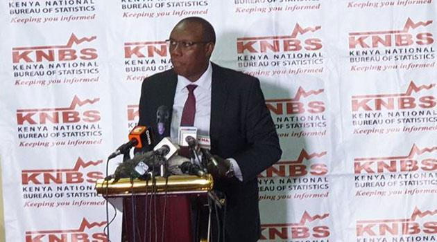KNBS Director General Zachary Mwangi in a past event
