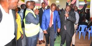 Deputy President William Ruto (Centre) at Full Gospel Churches of Kenya Gatunduri, Manyatta Constituency, Embu County on Sunday, February 23