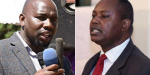 A photo collage of Senate Majority leader Kipchumba Murkomen and Director of Criminal Investigations George Kinoti