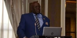 Education CS George Magoha opens the regional forum on university education reforms in Nairobi at Villa Rosa Kempinski on February 17, 2020