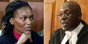 A photo collage of Sarah Wairimu Cohen and Court of Appeal Judge Sankale Ole Kantai