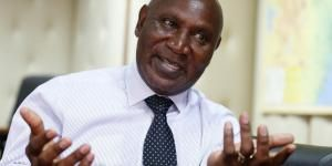 Kenya's Auditor General Edward Ouko speaking during a Reuters interview in Nairobi on June 14, 2018.