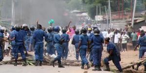 Police disperse protesting crowds