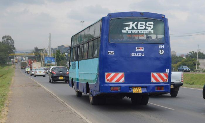 Motorists along Mombasa Road on Thursday, October 14, 2019