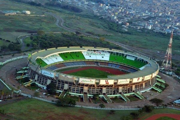 Aerial view of the Moi International Sports Complex, Kasarani in Nairobi