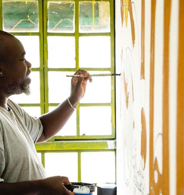 Kenyan artist Michael Soi.