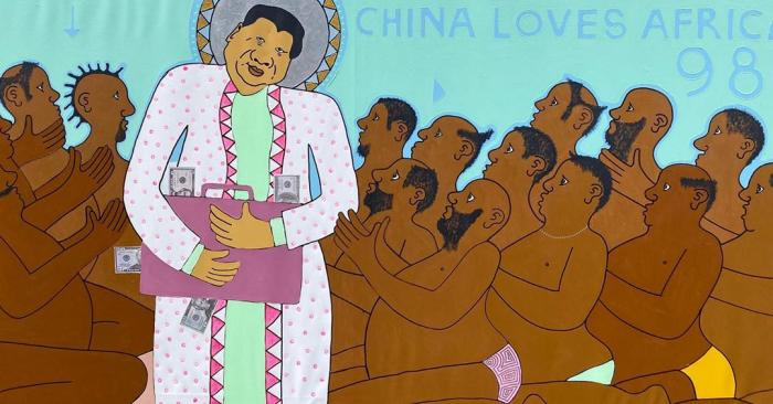 A piece from the 'China Loves Africa' collection.