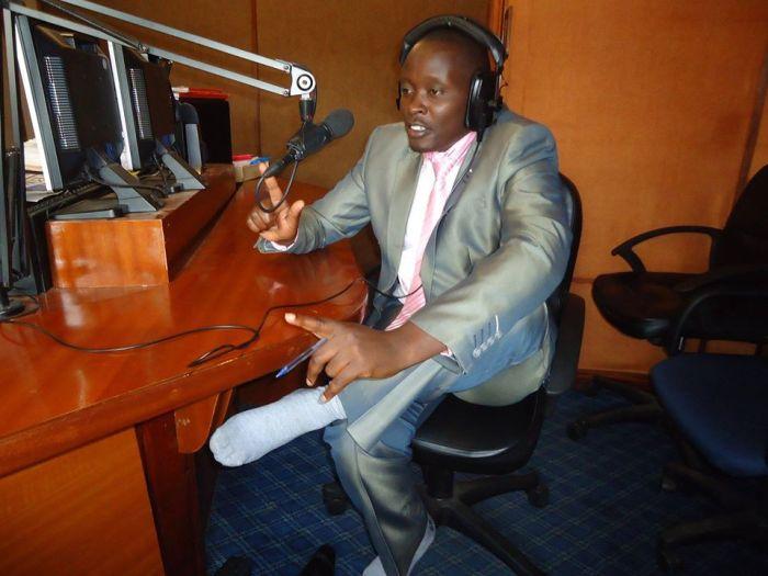 Former Kameme FM journalist Moses Kanyira