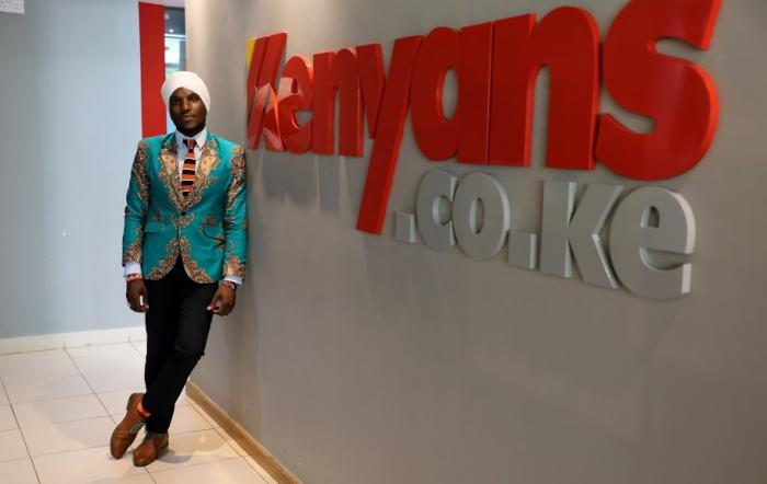 David Wachira during a special photoshoot at Kenyans.co.ke offices in Westlands in January 2020.