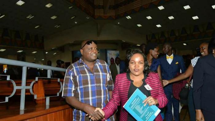 Andrew Ngirici with wife Purity Ngirici during the 2017 elections