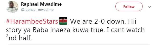 Kenyans reacted to Harambee stars' performance after visit from Raila Odinga.