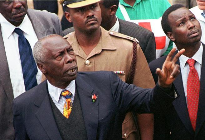 Image result for images of Former president moi with Kenyan chiefs