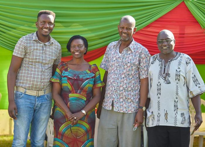 NARC-Kenya party leader Martha Karua (Second left) and other members of the party  during the party members family day in Kilimani in June 2018