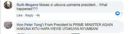 Replies to Moses Kuria's post of a photo of DP Ruto and he on Saturday, November 30, 2019