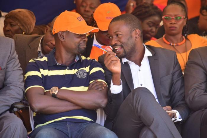 A past photo of Kibra MP Ken Okoth and ODM Secretary General Edwin Sifuna