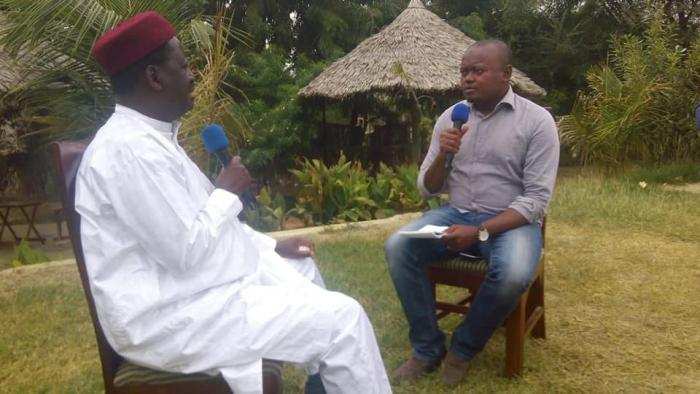 KTN news anchor Ali Manzu interviewing ODM leader Raila Odinga in August 2019