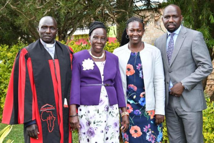 A photo of Senator Murkomen with his wife and parents