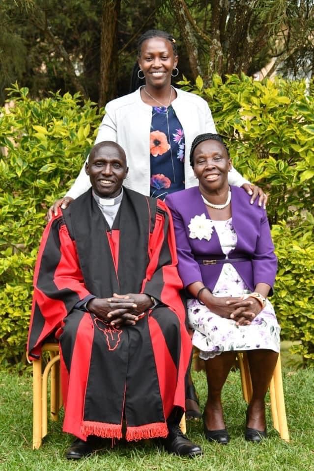 Murkomen's wife with her parents in-law