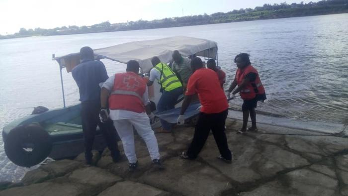 Rescuers retrieve the body of John Mutinda whose car plunged into the ocean on Saturday, December 7, 2019