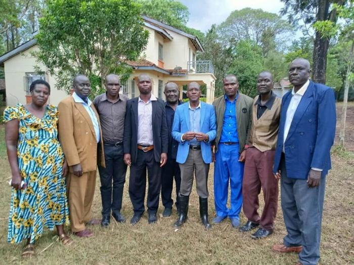 Clansmen who visited the former senator at his home on October 5 2019.
