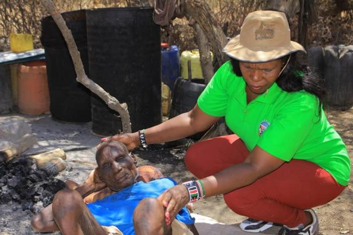 Evelyn Wanjugu Kimathi during a past charity event at Turkana county