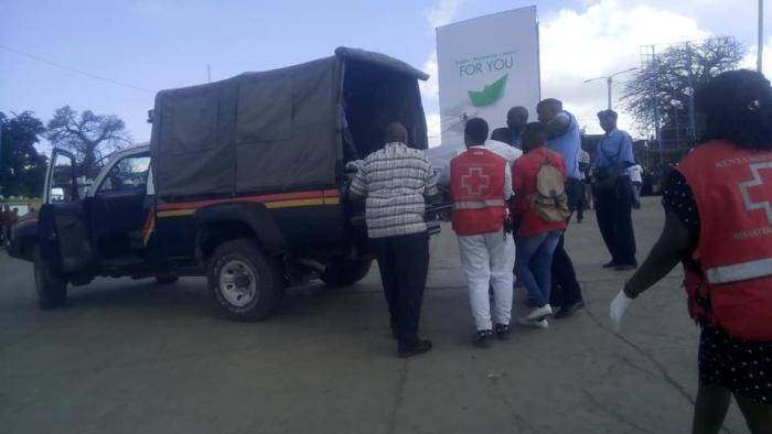 The body of John Mutinda whose car plunged into the ocean being ferried to the mortuary by police on Saturday, December 7, 2019