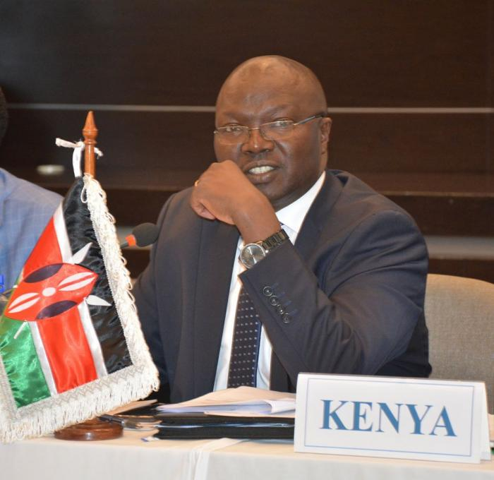 Water and irrigation cabinet secretary Simon Chelugui during the Nile Council of Ministers meeting on November 4