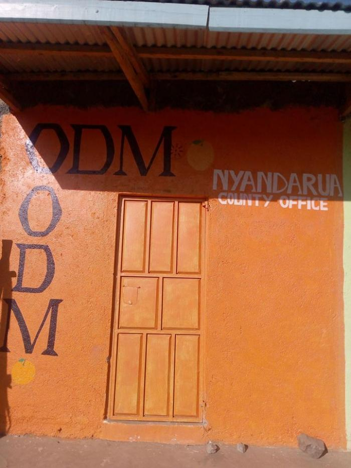 A photo of ODM party Nyandarua office that was opened in September 2019