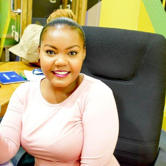 Cate Rira during one of her morning shows at Nation FM in 2019. She opened up on the pain of losing three family members in one year
