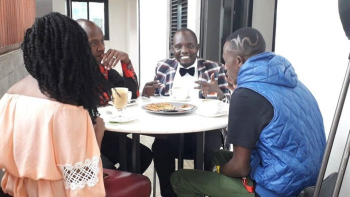 KTN's new show hosts from left: Stella Kareo, DJ Krowbar, Anthony Ndiema and DJ G-jo at a roundtable that appeared in there new show's promo.