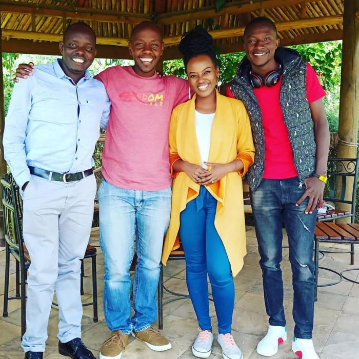 The hosts of the upcoming show from left: Anthony Ndiema, DJ Krowbar, Stella Kareo and DJ G-jo.