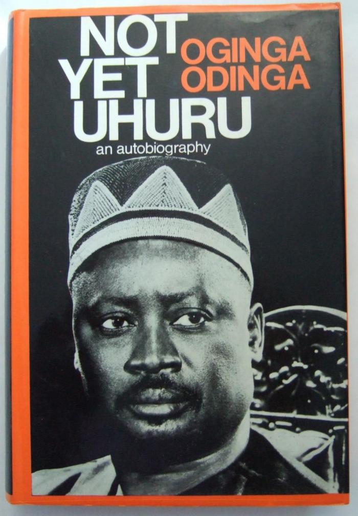 an image of the book Not yet uhuru that  was authored by Oginga Odinga