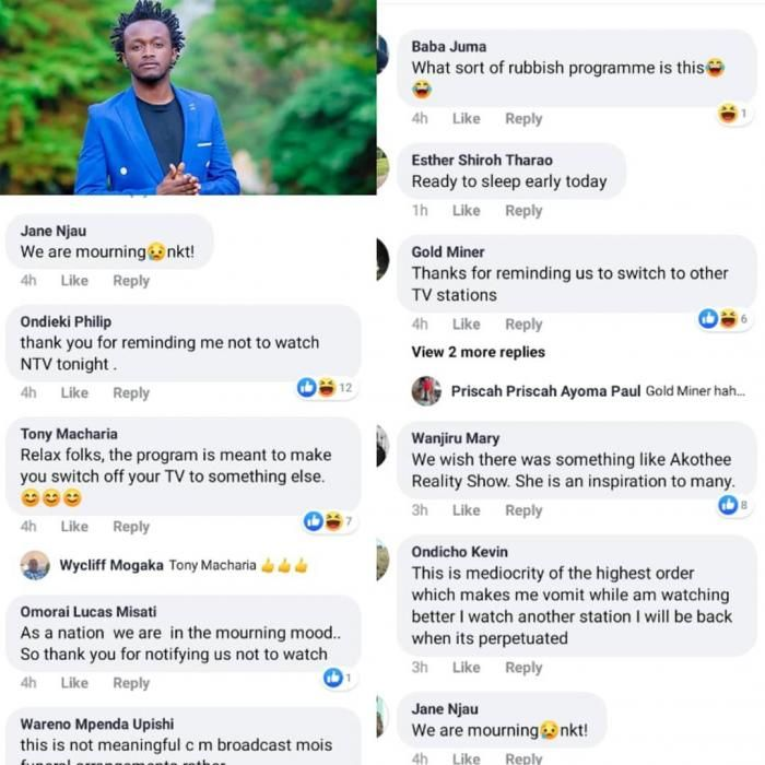Reactions to Bahati's reality show on NTV PHOTO|COURTESY