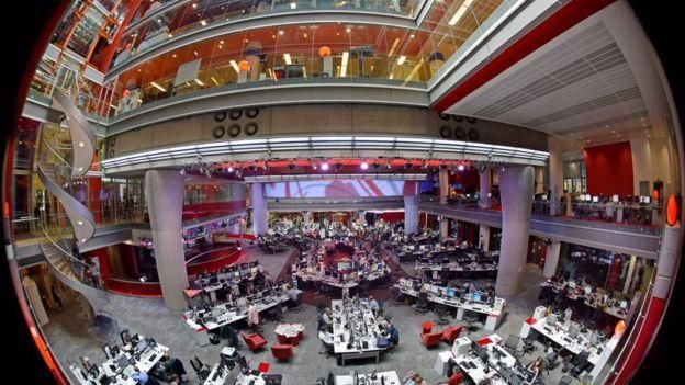 The BBC newsroom in New Broadcasting House, London (Photo/Courtesy)