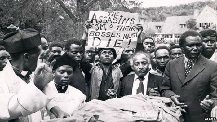 University of Nairobi students demonstrating against JM Kariuki's murder in 1975.