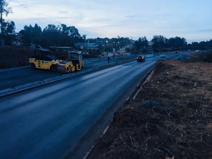 A section of the Langata-NHC-Kibera-Ngong Road