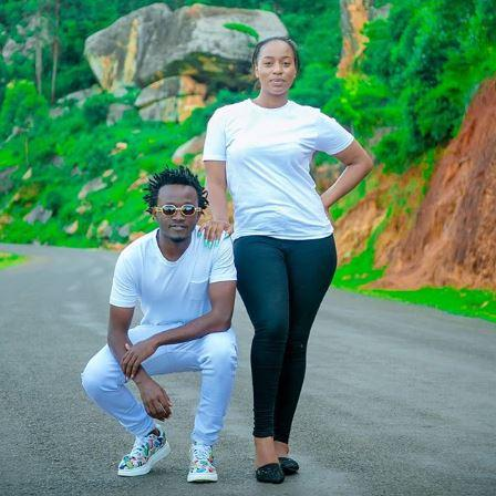Bahati with wife Diana Marua pose for a photo. Their reality show Being Bahati has come under heavy criticsm