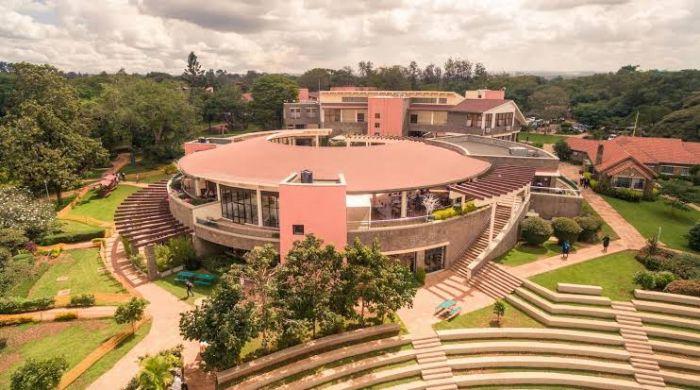 Aerial photo of the International School of Kenya.