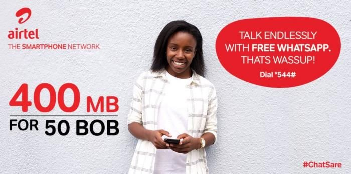 How to Enjoy Free WhatsApp With Airtel's Chat Sare - Kenyans co ke