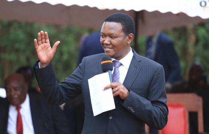 Pictured is Machakos Governor Alfred Mutua making an address in a past event. He was ranked the best Governor in the country beating 46 others.