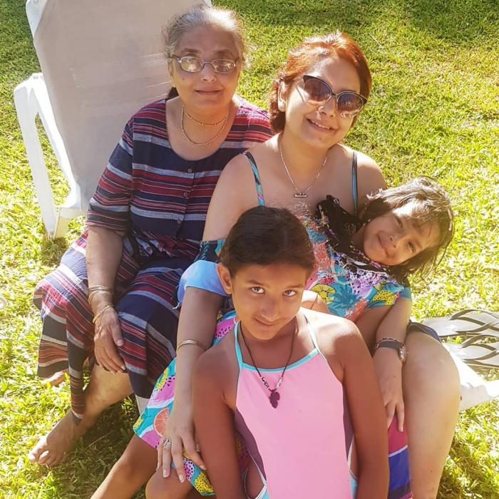 Late K24 anchor Anjlee with her mother and daughters in the past