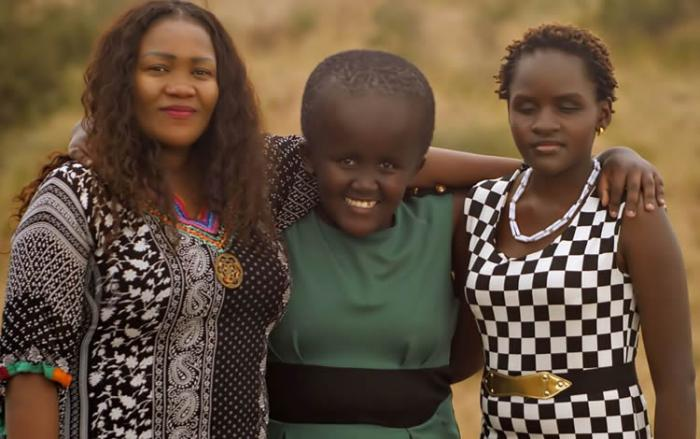Veteran journalist Ann Ngugi with her family in 2018. She was fired from K24 TV in 2014.