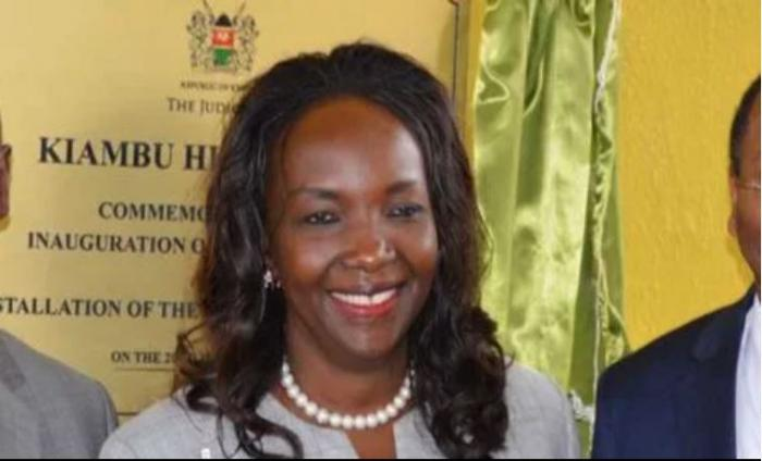 Magistrate Dr Julie Oseko, she is accused of taking phone calls during an ongoing court proceeding