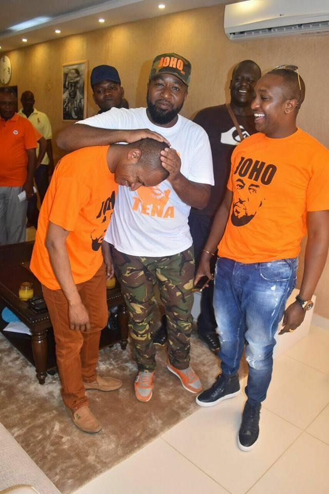 Embakasi East Babu Owino and Mombasa governor Hassan Joho in a past event