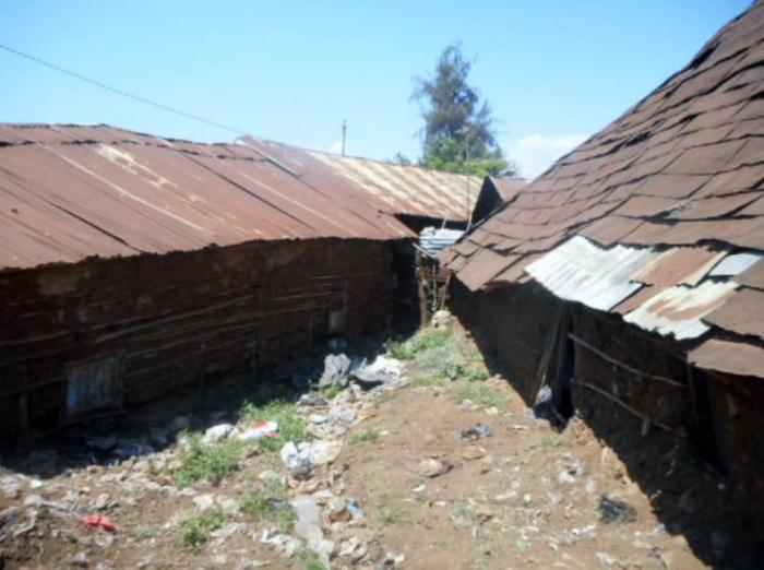 A photo of substandard houses in Kisumu's Nyalenda slum.