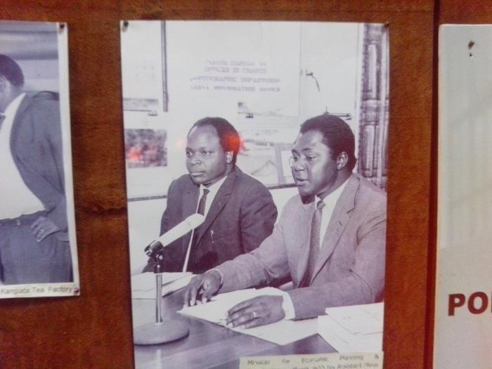Tom Mboya, the Minister for Planning with his deputy Mwai Kibaki