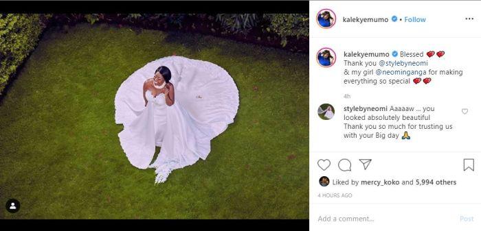 Kalekye Mumo's Instagram post that raised eyebrows on Monday, January, 13, 2020.
