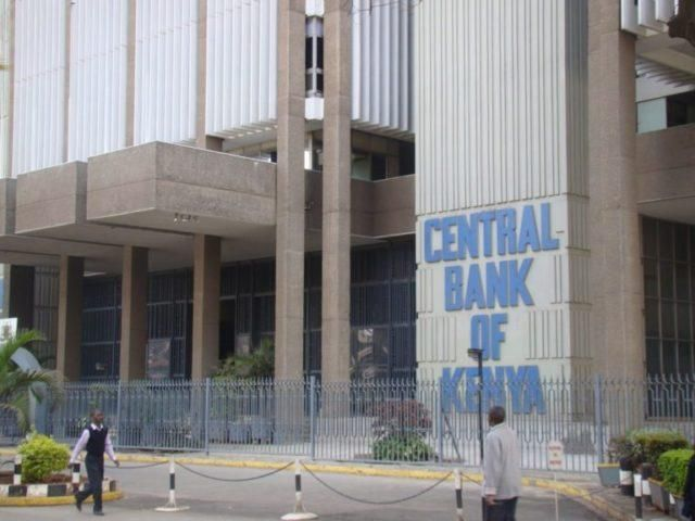 The Central Bank of Kenya building on Haile Selassie Avenue, Nairobi.