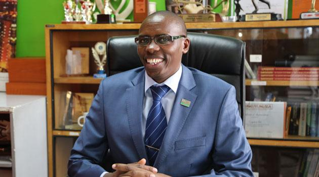 Optiven CEO George Wachiuri in his offices.