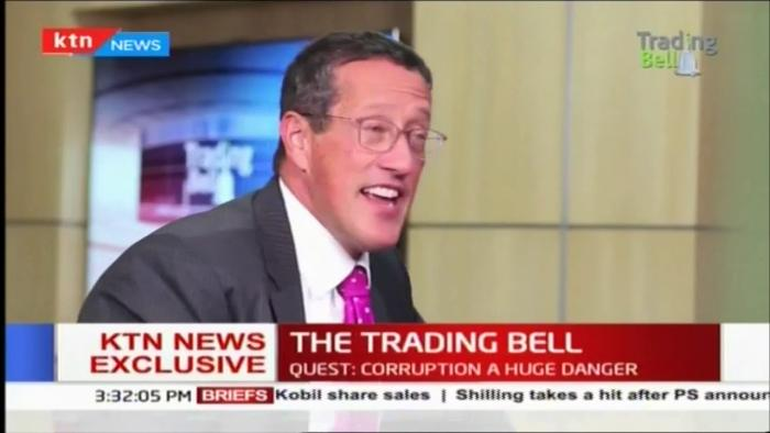 Celebrated CNN Journalist Richard Quest on Trading Bells on KTN News on November 2, 2018.